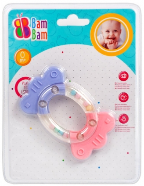 """Barškutis - kramtukas kūdikiams """"Bam-Bam"""""""