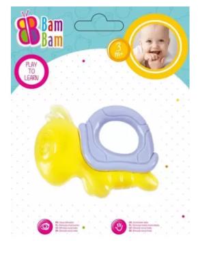 """Kramtukas kūdikiams """"Bam-Bam Vėžlys"""", geltonas"""