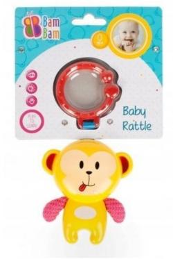 """Barškutis - kramtukas kūdikiams """"Bam-Bam Beždžionė"""""""