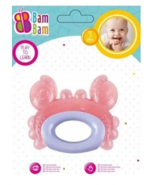 """Kramtukas kūdikiams """"Bam-Bam Krabas"""", rožinis"""