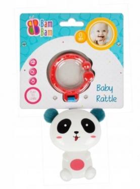 """Barškutis - kramtukas kūdikiams """"Bam-Bam Panda"""""""