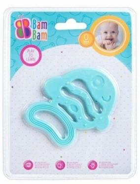 """Kramtukas kūdikiams """"Bam-Bam Žuvis"""", mėlynas"""