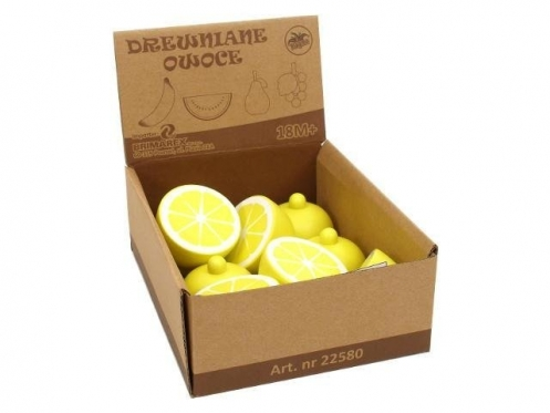 Žaislinės medinės citrinos, 8 vnt