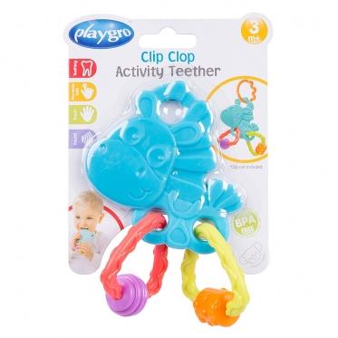 """Kramtukas - barškutis kūdikiams """"Clip Clop Drakonas"""", 5,5 x 11,7 x 13,5 cm"""