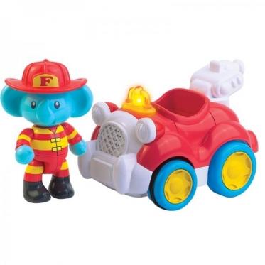 """Žaislas """"Gaisrinės automobilis ir drambliukas"""""""