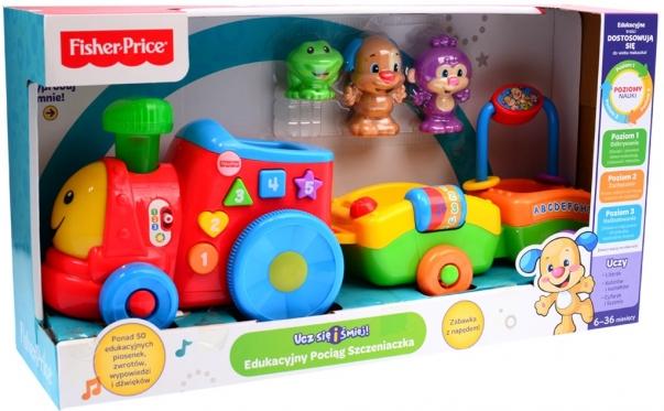 """""""Fisher Price"""" interaktyvus žaislas """"Traukinukas"""" (lenkų kalba)"""