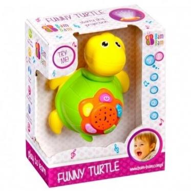 """Interaktyvus žaislas ir naktinė lempa su žvaigždėto dangaus imitavimu """"Vėžliukas"""""""