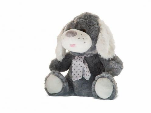 """Pliušinis žaislas """"Šuniukas"""", 35 cm (pilkas)"""