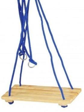 Vaikiškos medinės supynės, 50 x 22 cm (mėlynos)