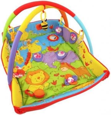 """Edukacinis kilimėlis kūdikiams """"Zoologijos sodas"""", 110 x 95 cm"""