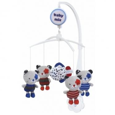 """Pliušinių žaislų karuselė kūdikiams """"Baby Mix Kačiukai"""""""