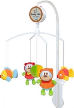 """Pliušinių žaislų karuselė kūdikiams """"Baby Mix Žuvytės"""""""