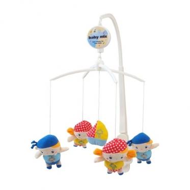 """Pliušinių žaislų karuselė kūdikiams """"Baby Mix Jūreiviai"""""""