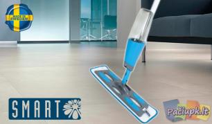 """Grindų plovimas šiuolaikiškai su """"Smart Spray Mop""""!"""