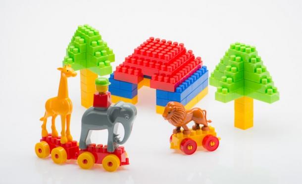 """Didelių kaladėlių konstruktorius """"Safaris"""", 114 vnt"""