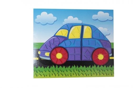 "Klijuojama vaikiška mozaika ""Automobilis"", 20 x 17 cm"