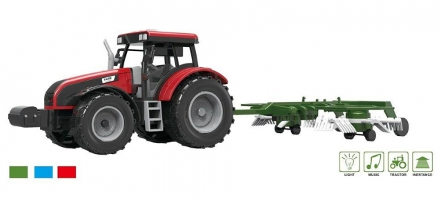 Traktorius su akėčiomis, 15,5 x 47 x 5 cm