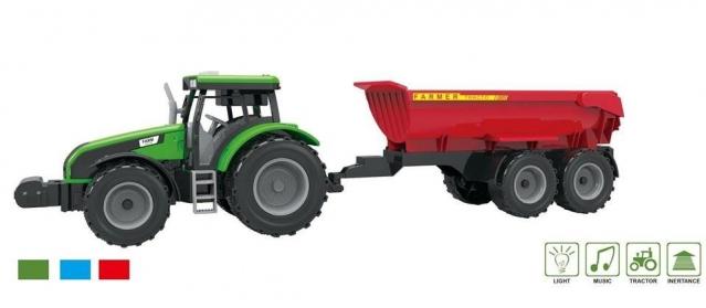 Traktorius su priekaba, 15,5 x 47 x 5 cm