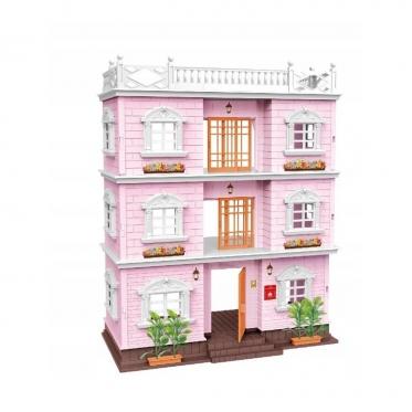 """Trijų aukštų lėlių namas """"Villa"""", 34 x 18 x 45 cm"""