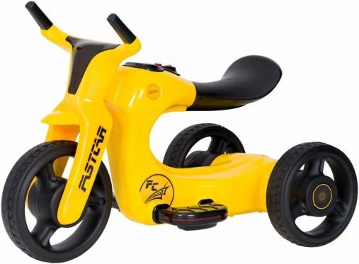 """Triratis elektrinis motociklas vaikams """"Fastcar"""", geltonas"""