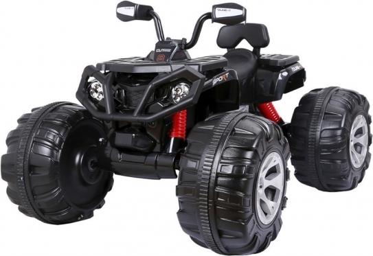 """Elektrinis vaikiškas keturratis """"JS - 3188 QUAD"""" (juodas)"""