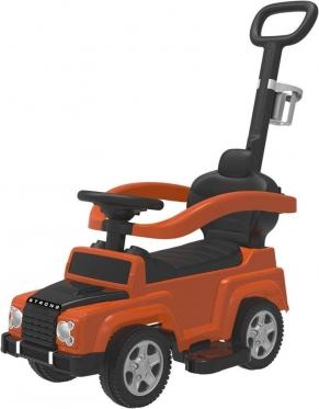 """Mašinėlė - paspirtukas su rankenėle """"Jeep"""" (oranžinė)"""