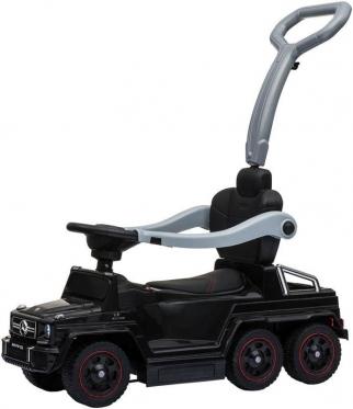 "Elektrinis vaikiškas automobilis su rankenėle ""SXZ1838 Mercedes"" (juodas)"