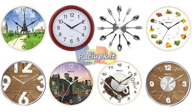 """Išskirtinio dizaino """"King Hoff"""" sieniniai laikrodžiai (įvairūs modeliai)"""