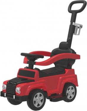 """Mašinėlė - paspirtukas su rankenėle """"Jeep"""" (raudona)"""
