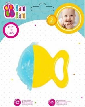 """Kramtukas kūdikiams """"Bam-Bam Žuvis"""", geltonas"""