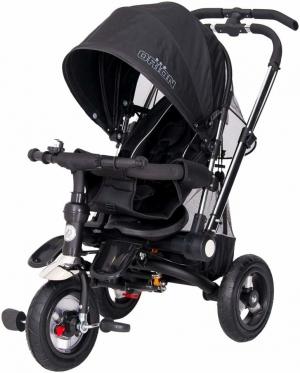 """Vaikiškas vežimėlis-triratis """"Orion"""", 100 x 80 x 55 cm (juodas)"""