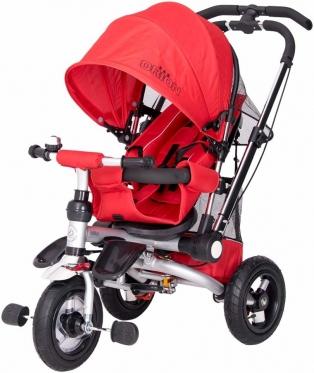 """Vaikiškas vežimėlis-triratis """"Orion"""", 100 x 80 x 55 cm (raudonas)"""