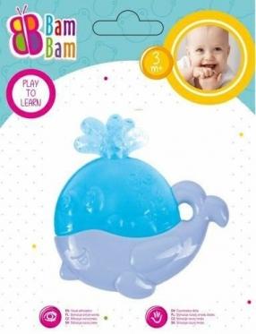 """Kramtukas kūdikiams """"Bam-Bam Banginis"""", violetinis"""