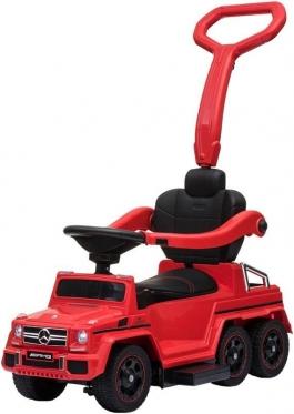 """Elektrinis vaikiškas automobilis su rankenėle """"SXZ1838 Mercedes"""" (raudonas)"""