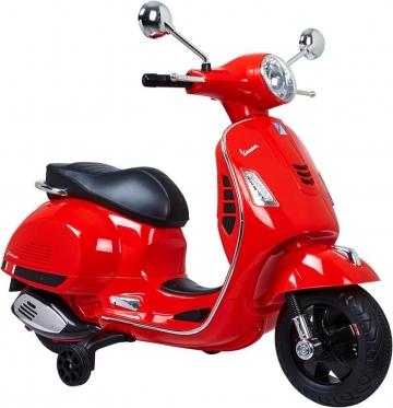 """Elektrinis vaikiškas motoroleris """"Vespa"""" (raudonas)"""