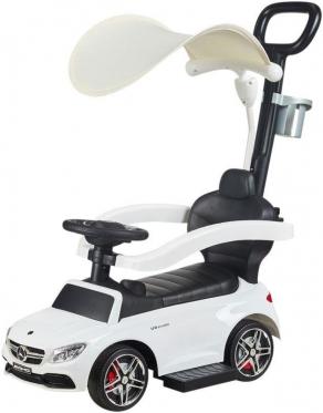 """Mašinėlė - paspirtukas su rankenėle """"Mercedes"""" (balta)"""