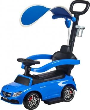 """Mašinėlė - paspirtukas su rankenėle """"Mercedes"""" (mėlyna)"""
