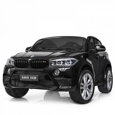 """Elektrinis vaikiškas automobilis """"BMW X6M"""" (juodas)"""