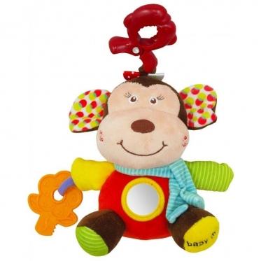 """Pakabinamas pliušinis žaislas """"Baby Mix Beždžionė"""", 19 х 16 х 12 cm"""