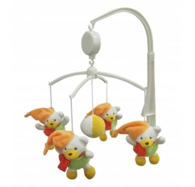 """Pliušinių žaislų karuselė kūdikiams """"Baby Mix Meškiukai"""""""