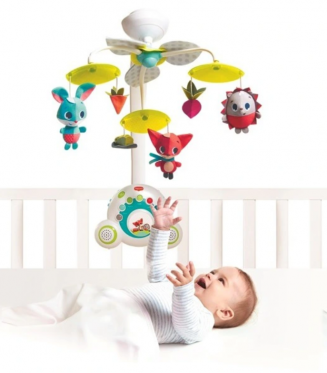 """Pliušinių žaislų karuselė kūdikiams """"Tiny Love Animals"""""""