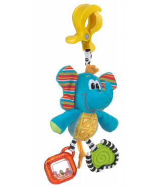 """Pakabinamas pliušinis žaislas """"Playgro Dramblys"""", 32 х 10 cm"""