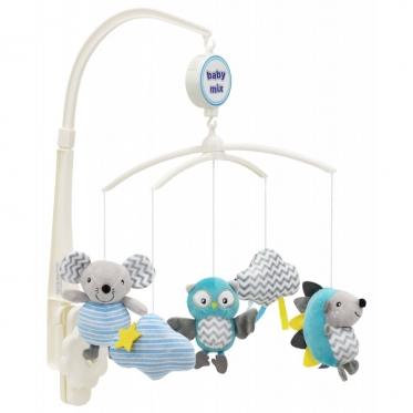 """Pliušinių žaislų karuselė kūdikiams """"Baby Mix Pelėdos"""""""