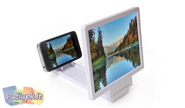 Mobilaus telefono ekrano vaizdo didintuvas su stovu