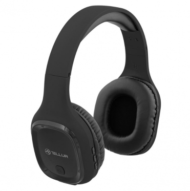Belaidės ausinės Tellur Bluetooth Over-Ear Pulse black
