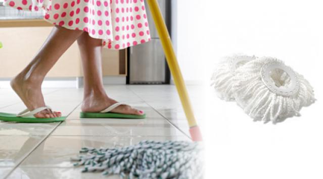 2vnt. grindų plovimo mikropluošto šluosčių VISOMS MOP tipo šluotoms