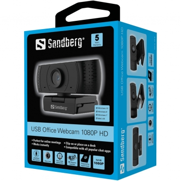 Vaizdo kamera Sandberg 134-16 USB Office Webcam 1080P HD