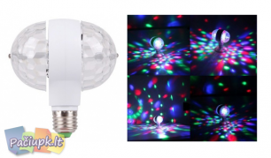 Dviguba įsukama spalvota LED lemputė