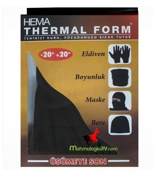 Termo kaukė Hema thermal form