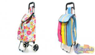 Pirkinių krepšys su ratukais (galimi modelių pasirinkimai)